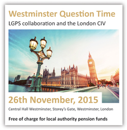 Westminster Question Time: LGPS collaboration and the London CIV